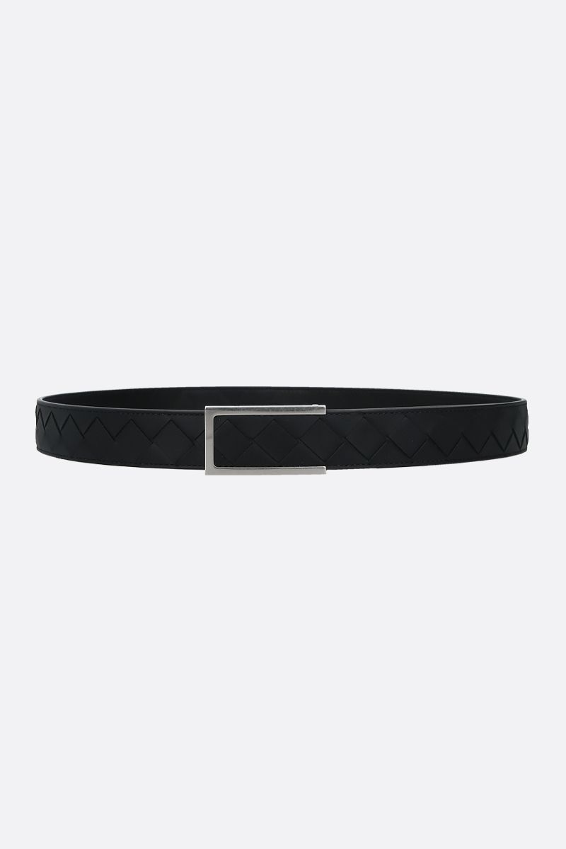BOTTEGA VENETA: Intrecciato VN belt Color Black_1
