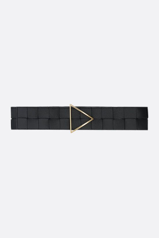 BOTTEGA VENETA: Maxi Intrecciato belt Color Black_1
