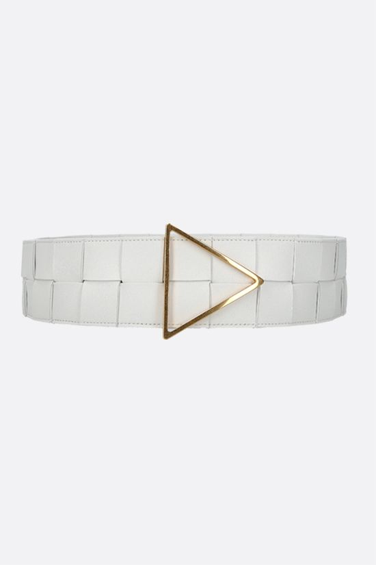 BOTTEGA VENETA: Maxi Intrecciato belt Color White_1