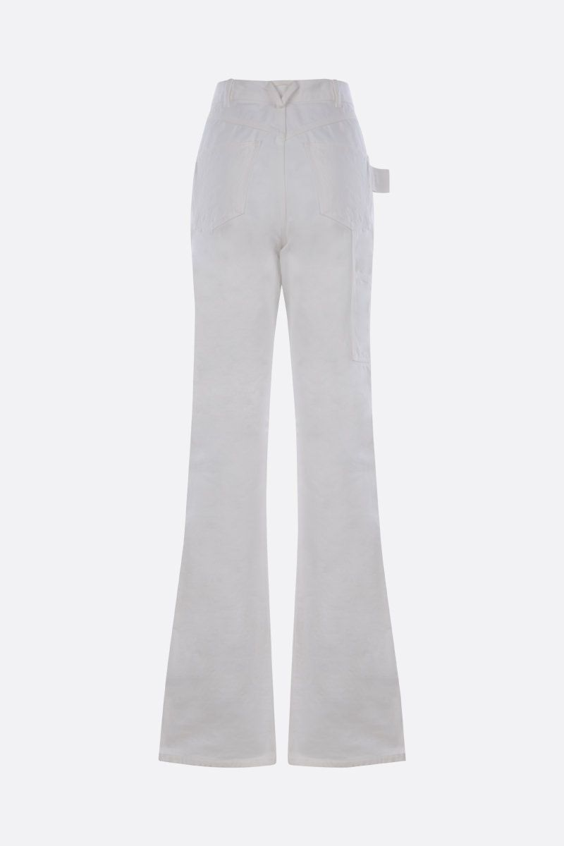 BOTTEGA VENETA: loop-detailed flare jeans Color White_2