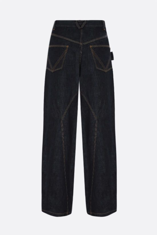 BOTTEGA VENETA: loop-detailed wide-leg jeans Color Blue_2
