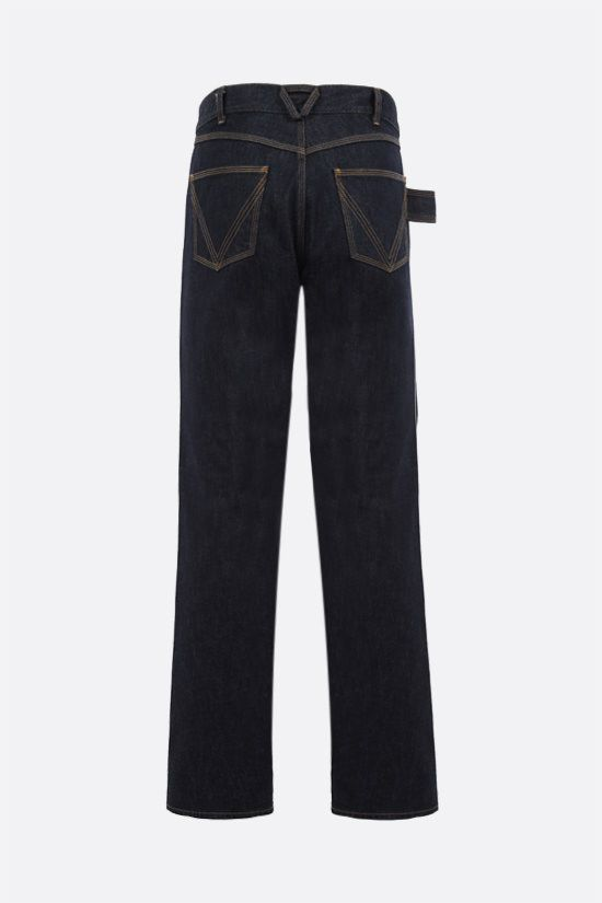 BOTTEGA VENETA: loop-detailed regular-fit jeans Color Blue_2