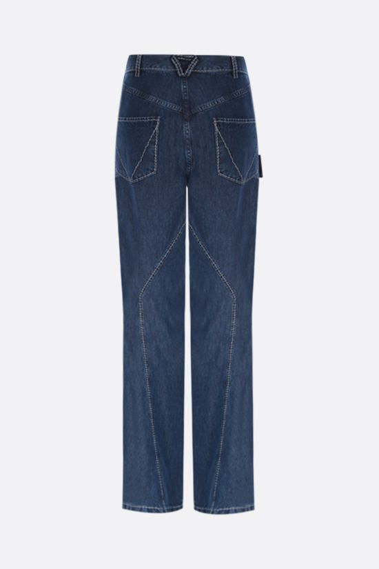 BOTTEGA VENETA: lightweight denim wide-leg pants Color Blue_2