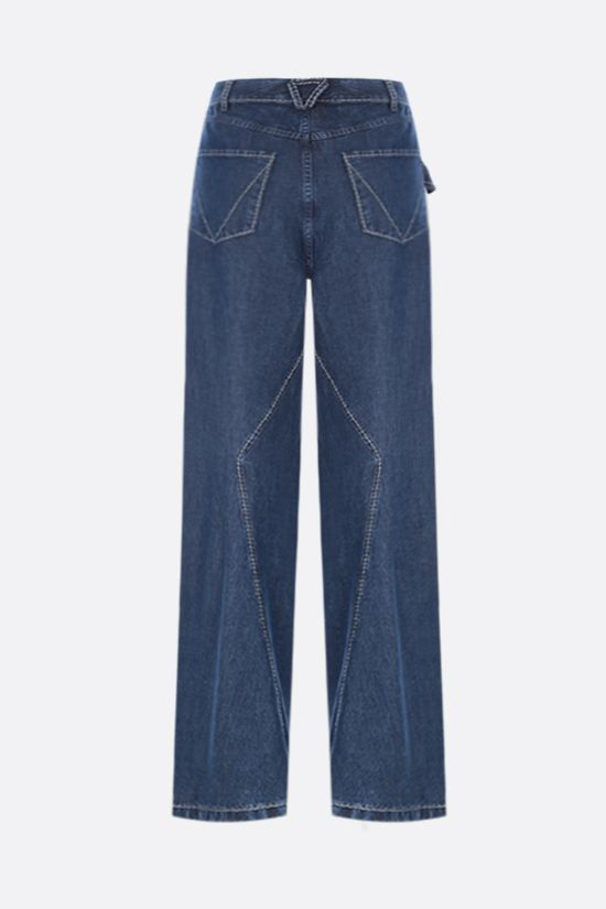 BOTTEGA VENETA: lightweight denim wide-leg jeans Color Blue_2