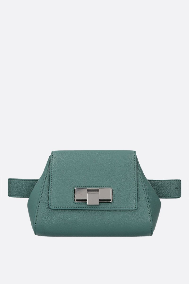 BOTTEGA VENETA: textured leather belt bag Color Blue_1
