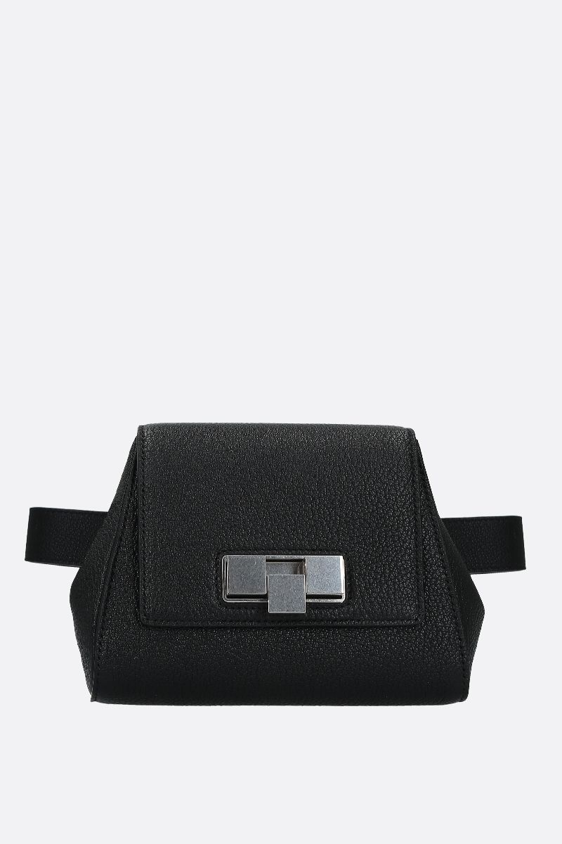 BOTTEGA VENETA: textured leather belt bag Color Black_1