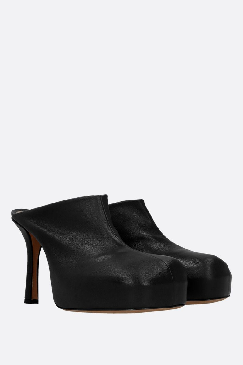 BOTTEGA VENETA: BV Bold stretch nappa mules Color Black_2