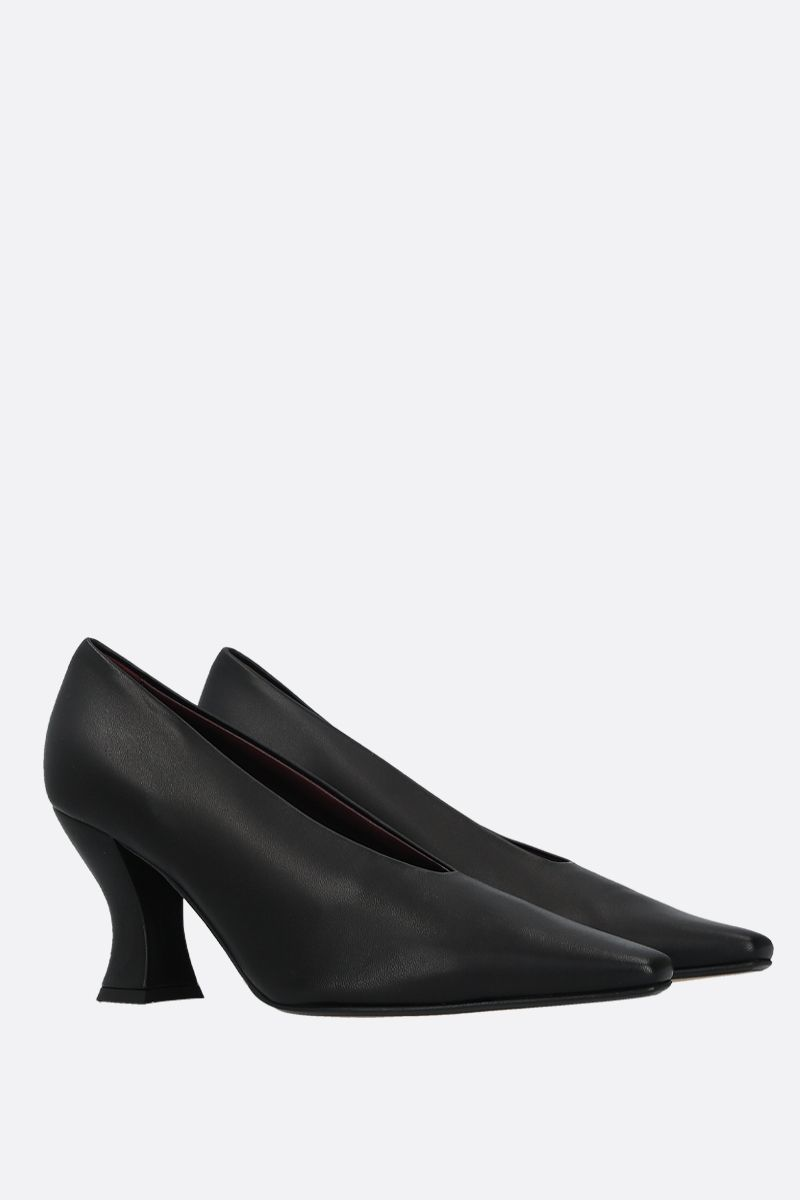 BOTTEGA VENETA: Almond nappa leather pumps Color Black_2
