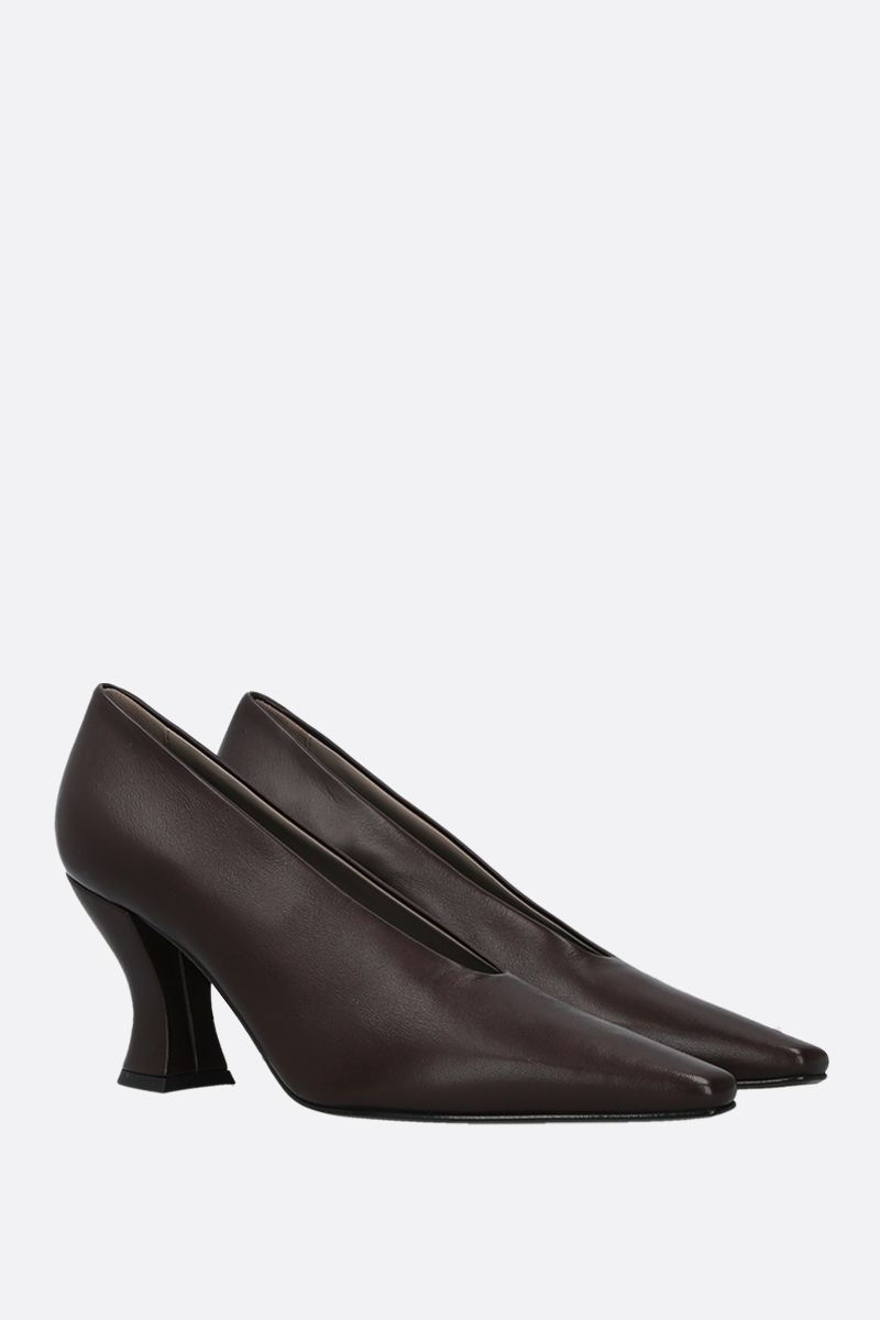 BOTTEGA VENETA: Almond nappa leather pumps Color Brown_2