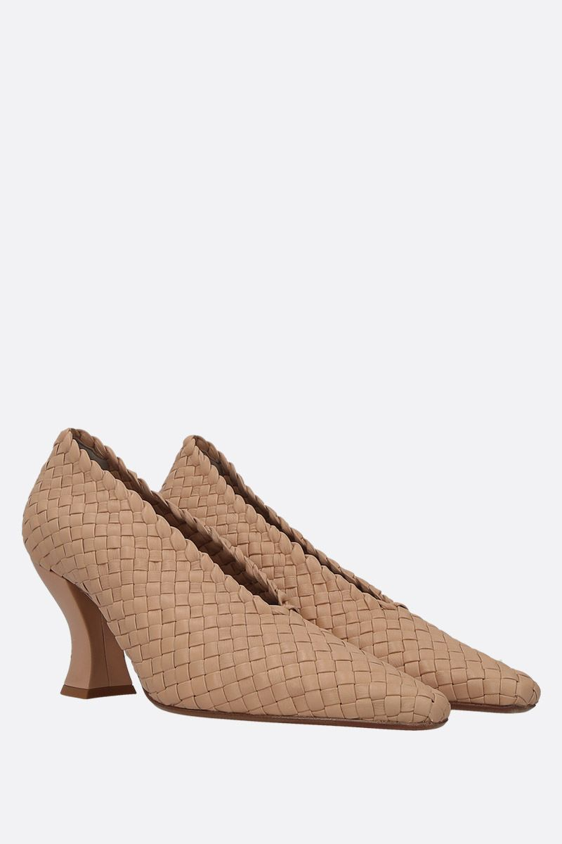BOTTEGA VENETA: Almond pumps in Intrecciato nappa Color Pink_2