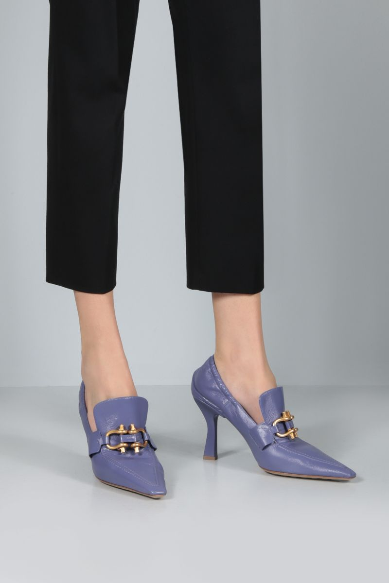BOTTEGA VENETA: The Madame Crush nappa pumps Color Purple_2