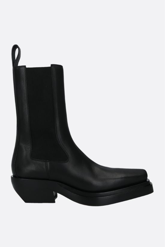 BOTTEGA VENETA: BV Lean smooth leather western boots Color Black_1