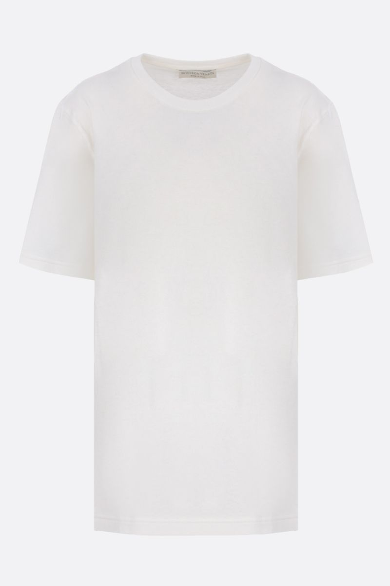BOTTEGA VENETA: Bottega embroidered cotton t-shirt Color White_1
