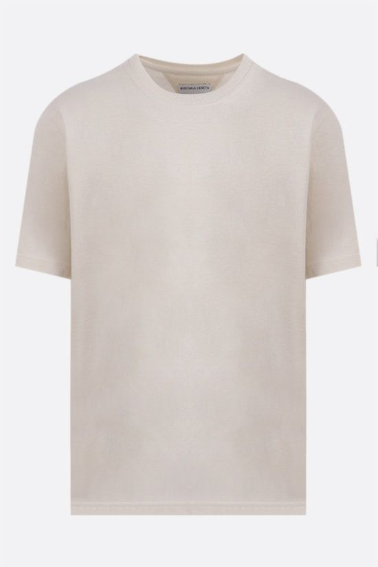 BOTTEGA VENETA: logo embroidered cotton t-shirt Color Multicolor_1