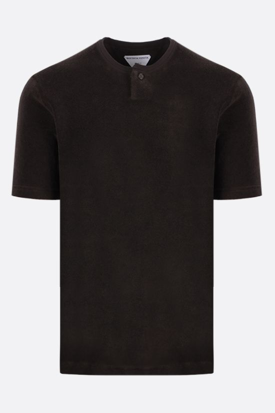 BOTTEGA VENETA: cotton terrycloth t-shirt Color Brown_1