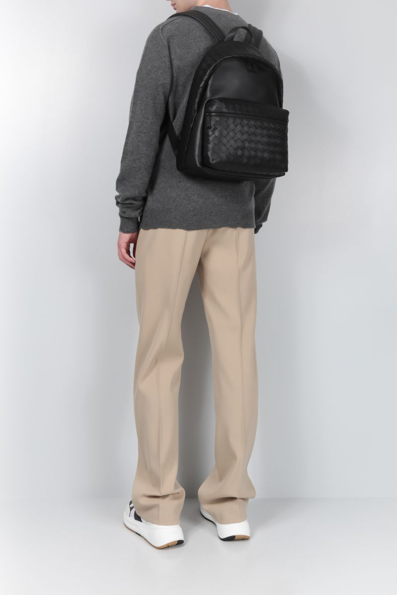 BOTTEGA VENETA: Intrecciato VN backpack Color Black_2