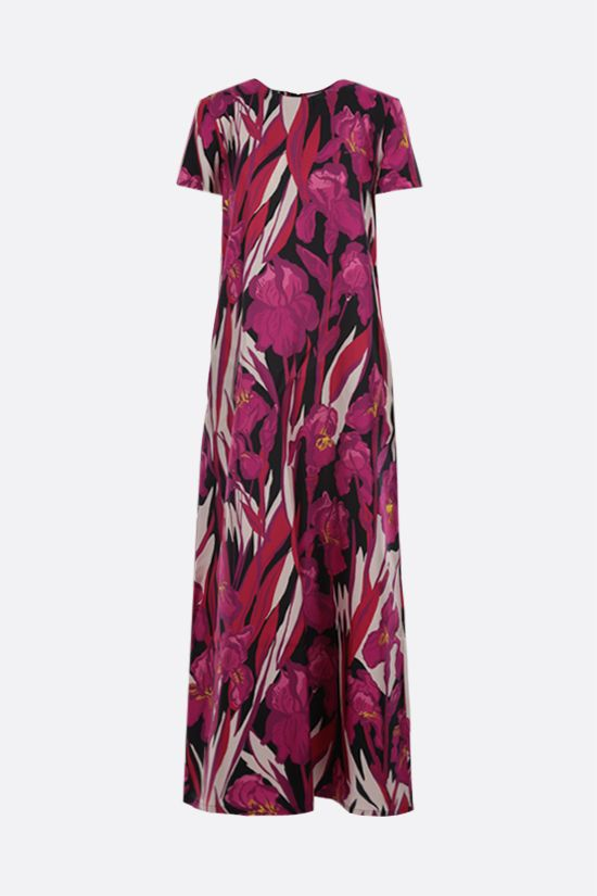LA DOUBLE J: Swing silk long dress Color Pink_1