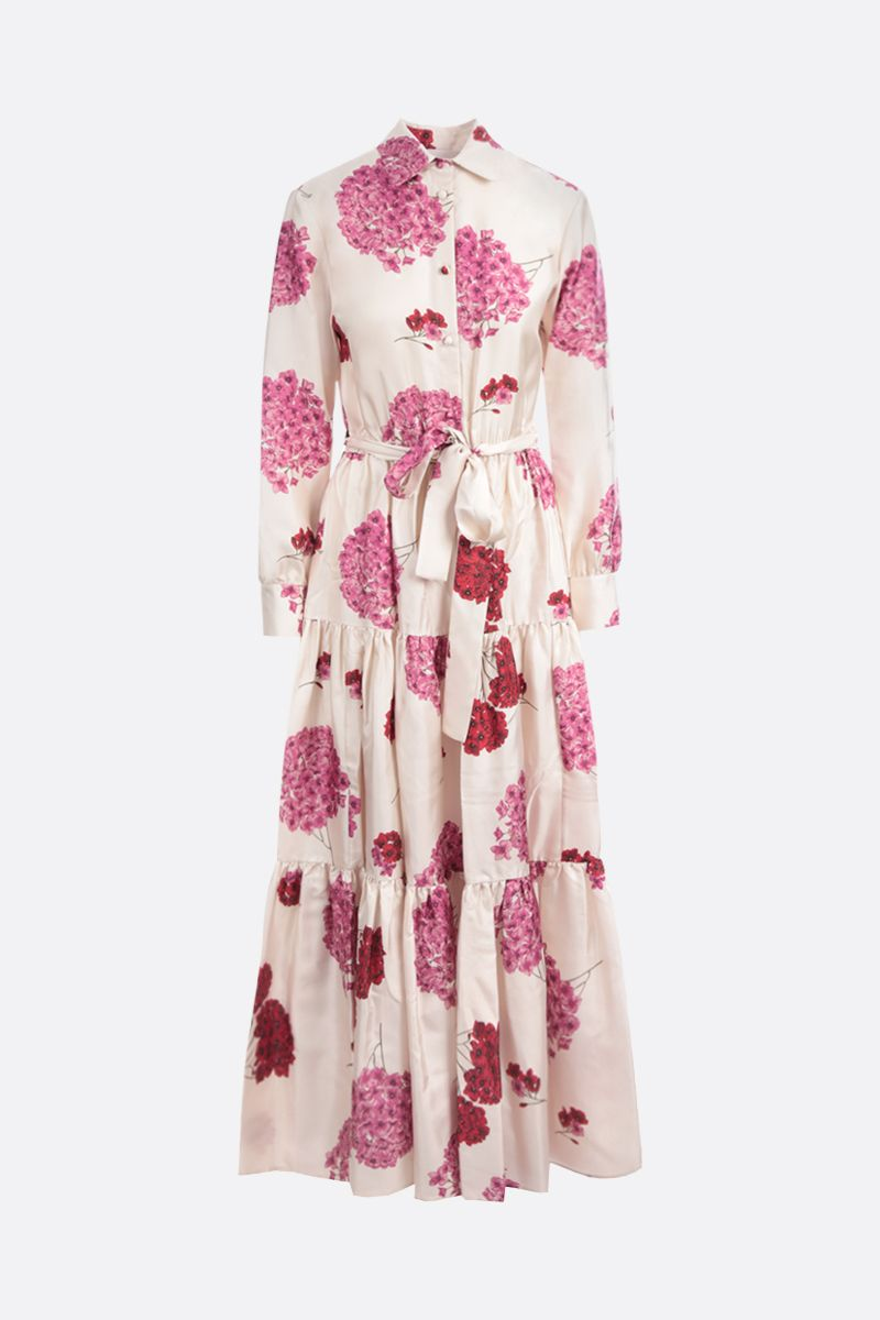 LA DOUBLE J: Bellini silk long dress Color Pink_1