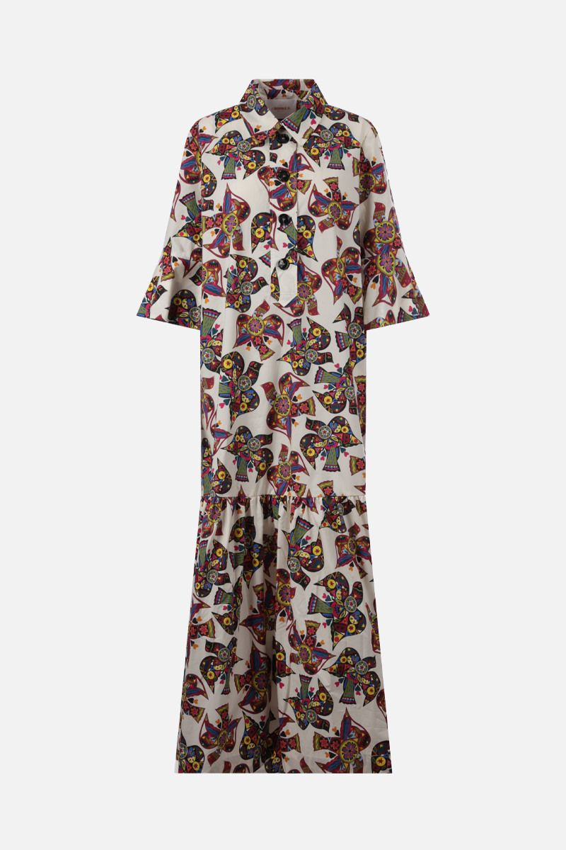 LA DOUBLE J: Artemis cotton long dress Color Multicolor_1
