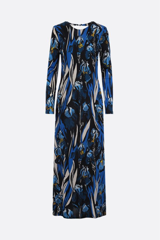 LA DOUBLE J: Swank crepe jersey long dress Color Blue_1