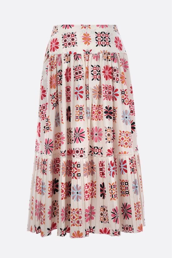 LA DOUBLE J: Balletto cotton midi skirt Color Multicolor_2