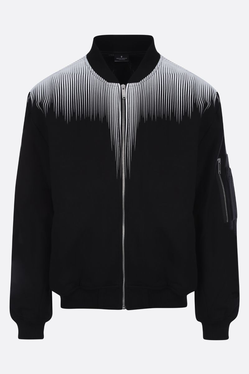 MARCELO BURLON COUNTY OF MILAN: Falls Wings print cotton bomber jacket_1