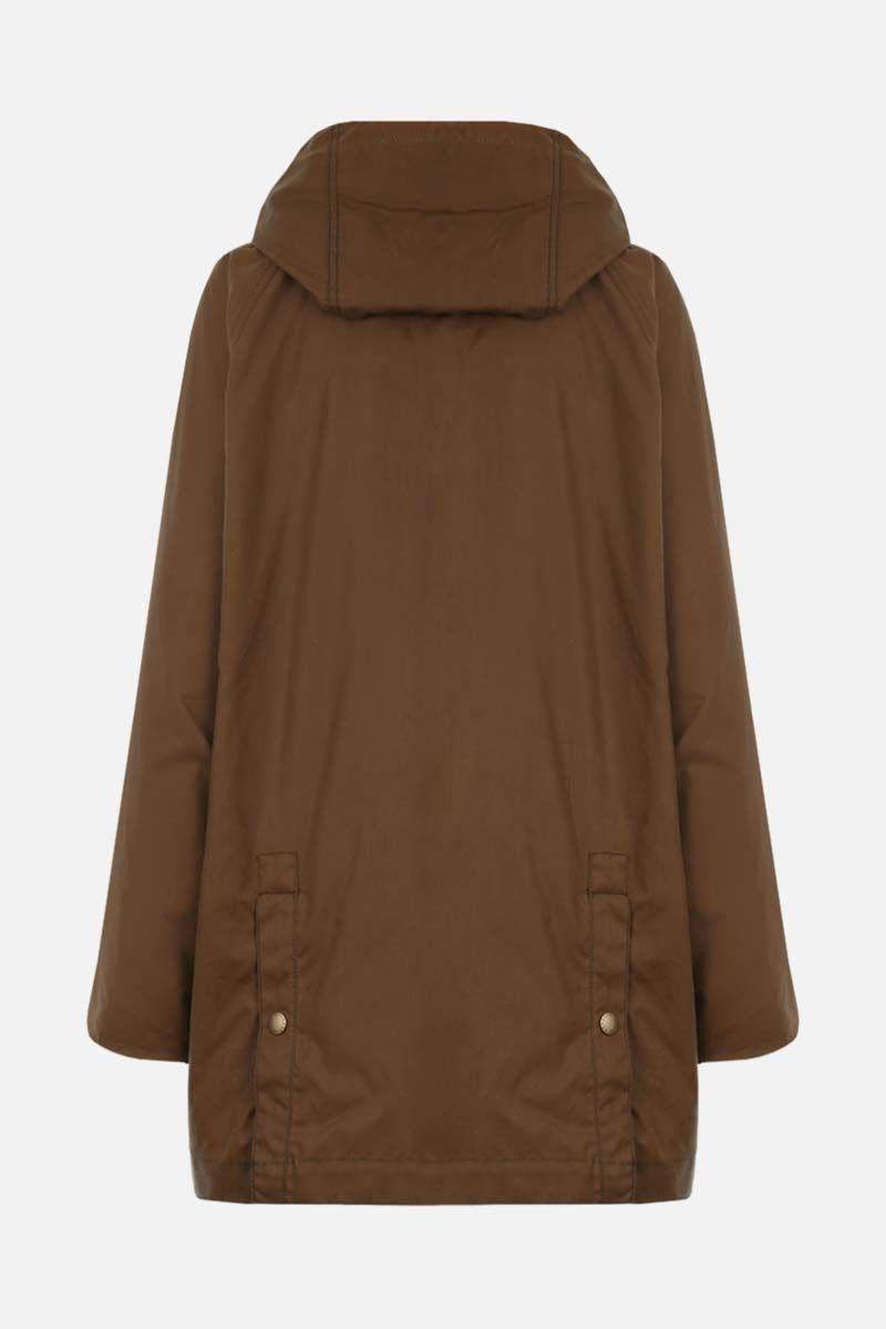 BARBOUR BY ALEXA CHUNG: Violet waxed canvas full-zip jacket Color Brown_2