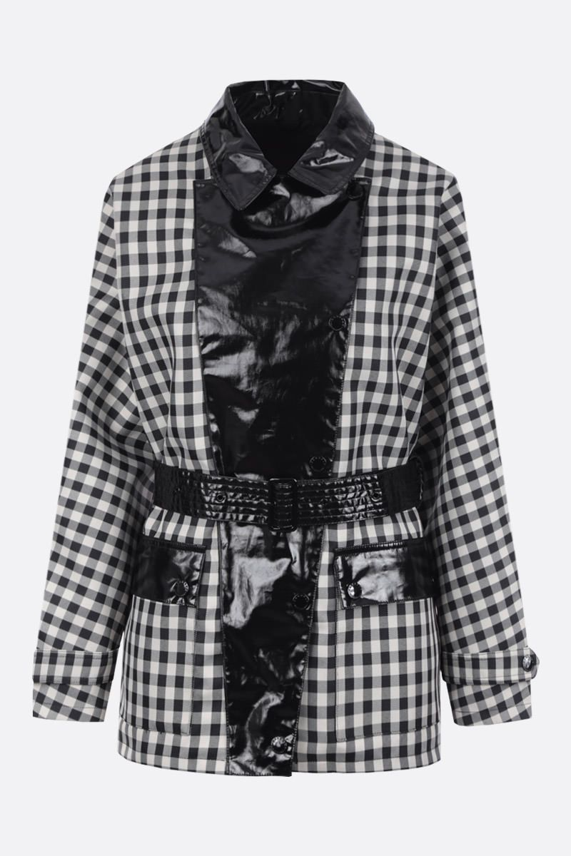 BARBOUR BY ALEXA CHUNG: Ivy oversized overcoat in checked technical canvas Color Black_1