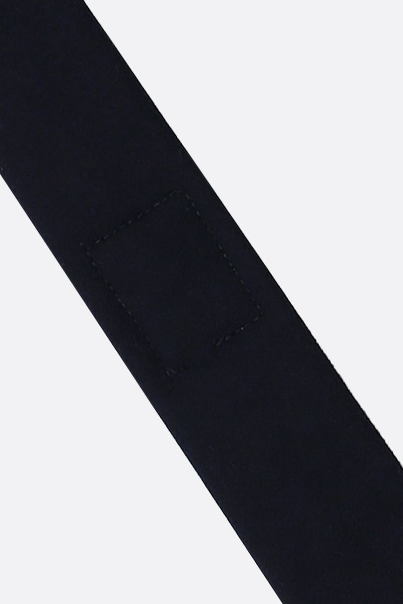 THOM BROWNE: 4-bar intarsia flannel tie Color Blue_2