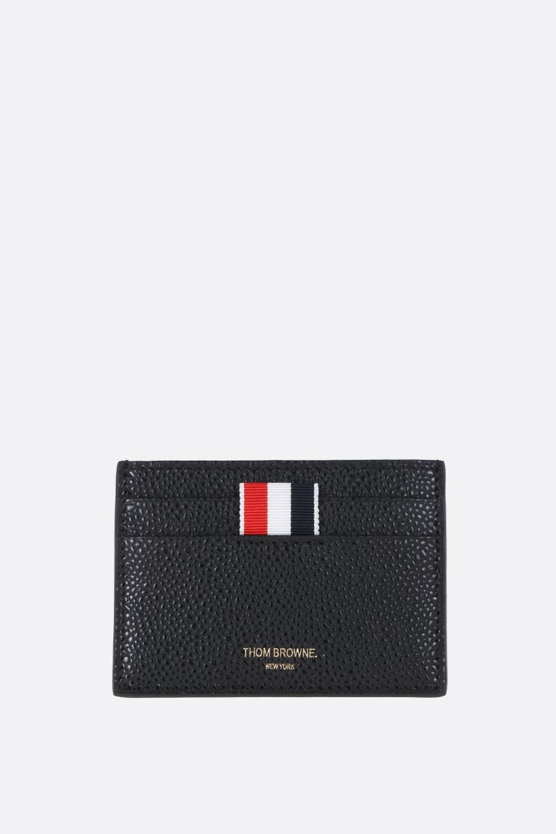 THOM BROWNE: Pebble Grain card case Color Black_1