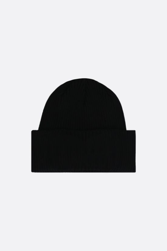 CP COMPANY: Goggle ribbed cotton beanie Color Black_2
