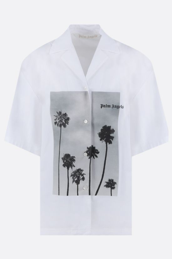PALM ANGELS: Palms Boulevard cotton bowling shirt Color White_1