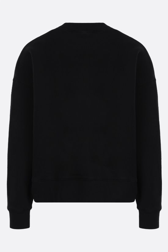 PALM ANGELS: Croco oversize cotton sweatshirt Color Black_2