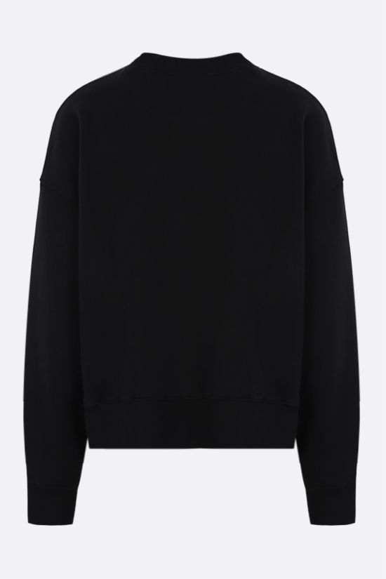 PALM ANGELS: Hue Gothic logo cotton oversize sweatshirt Color Black_2