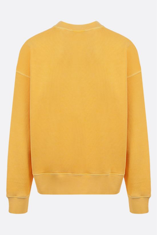PALM ANGELS: Curved Logo cotton sweatshirt Color Yellow_2