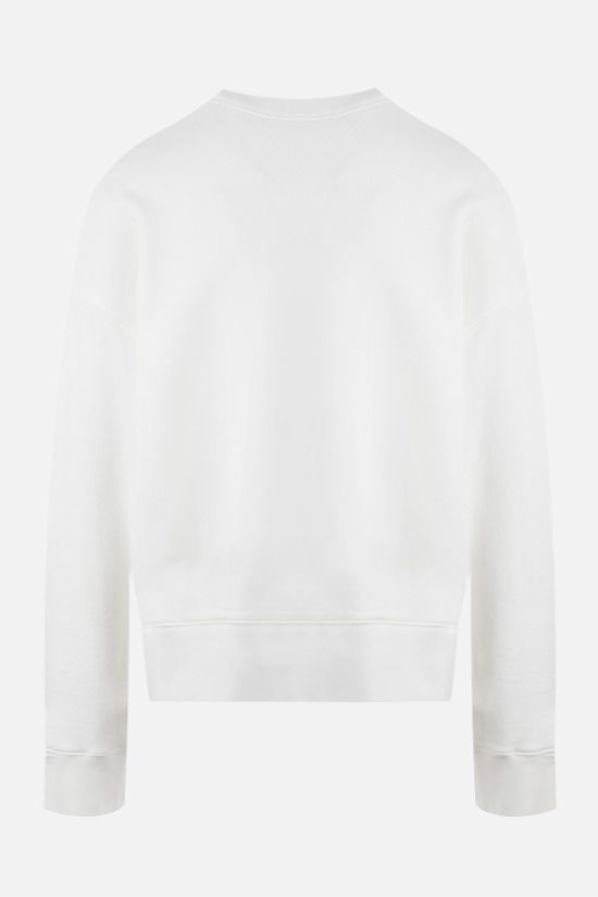 PALM ANGELS: Fishing Club oversize cotton sweatshirt Color White_2