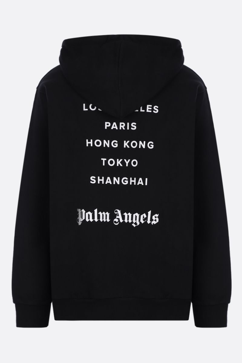 PALM ANGELS: Tokyo Sprayed cotton hoodie Color Black_2