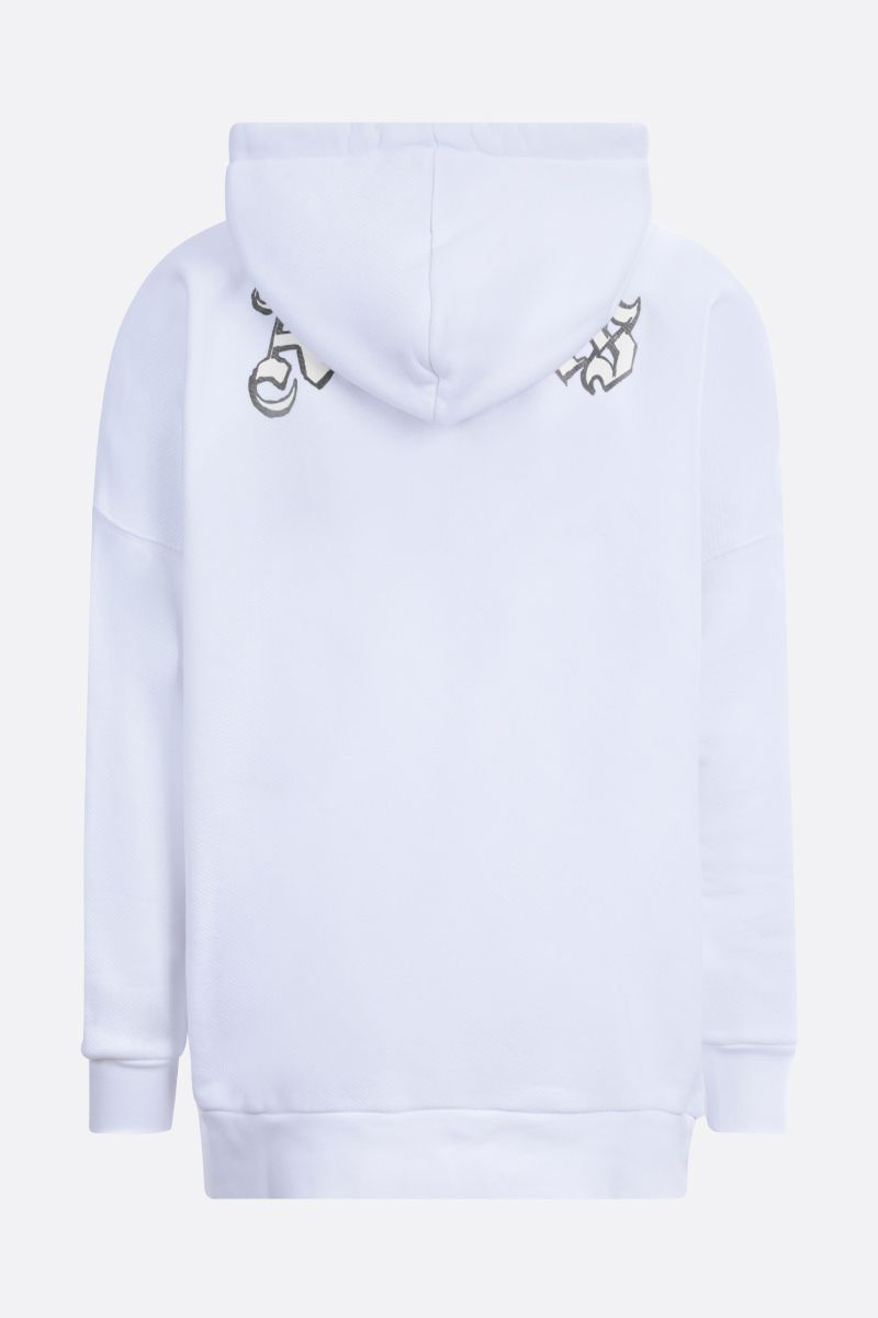 PALM ANGELS: Glow in the Dark cotton oversize hoodie Color White_2