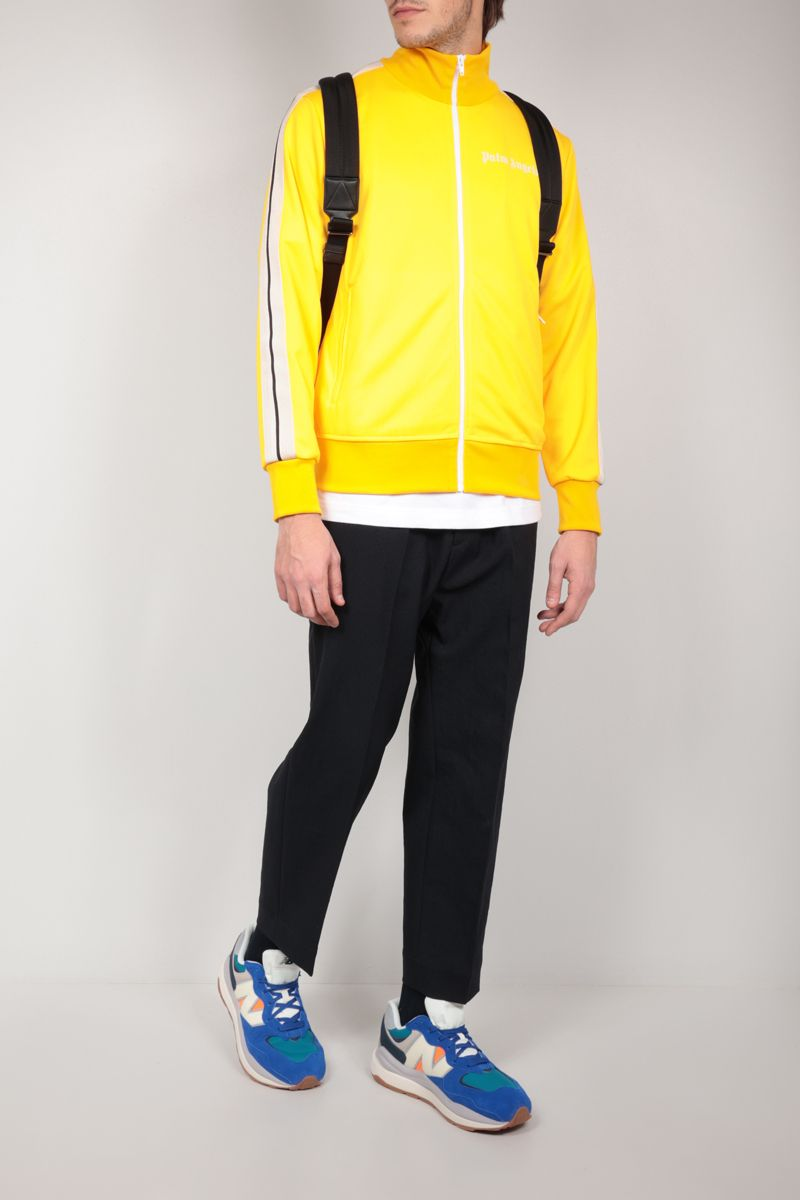 PALM ANGELS: logo print technical jersey track jacket Color Yellow_2