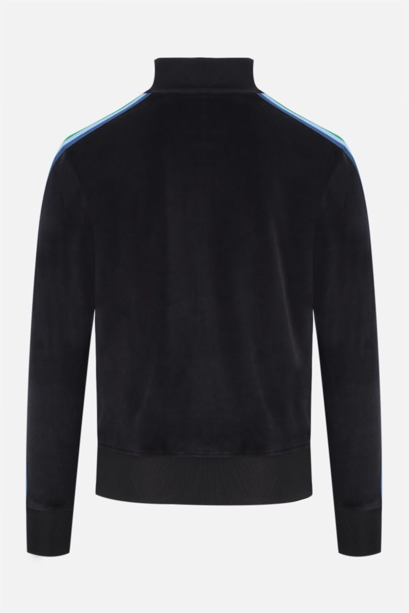 PALM ANGELS: Rainbow chenille track jacket Color Black_2