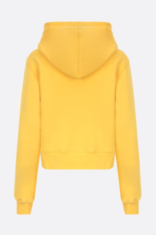 PALM ANGELS: Bear cropped cotton hoodie Color Yellow_2