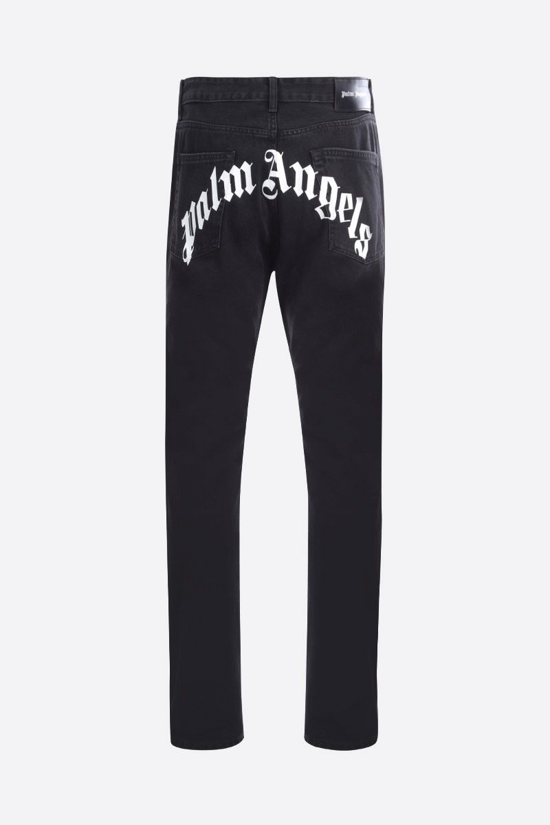 PALM ANGELS: Palm Angels print straight-fit pants Color Black_2