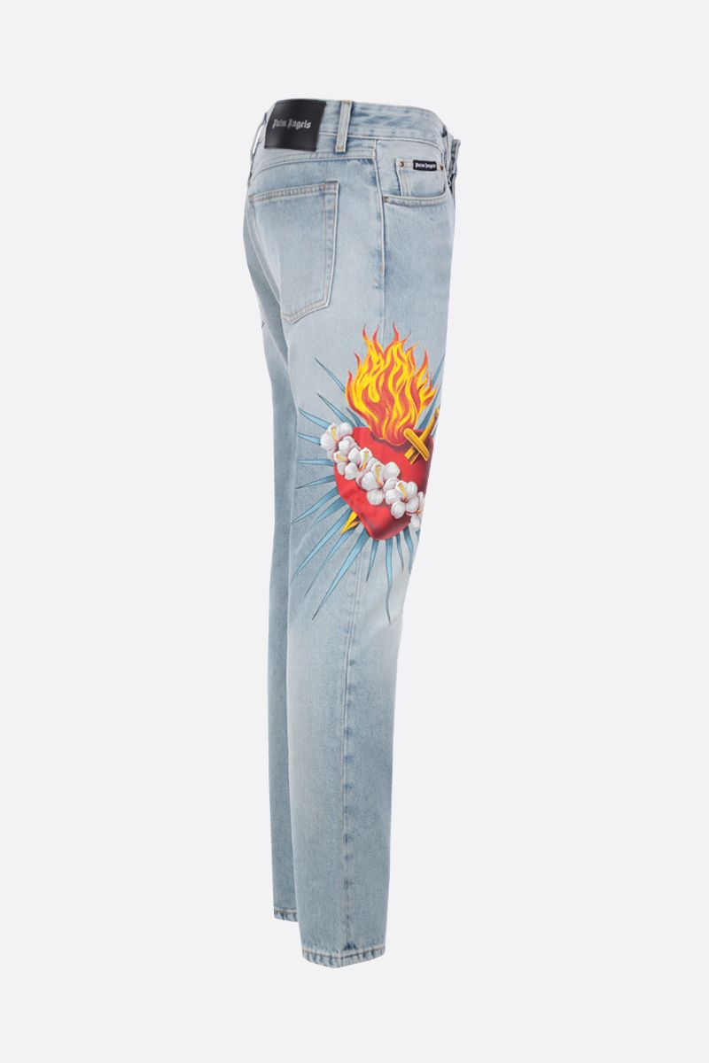 PALM ANGELS: jeans straight-fit Sacred Heart Colore Blu_2
