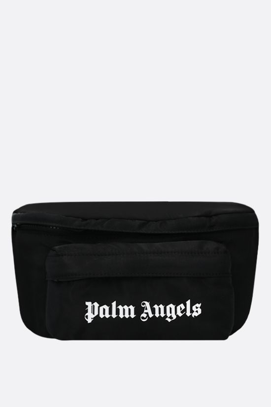 PALM ANGELS: marsupio Essential in nylon Colore Nero_1
