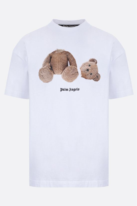 PALM ANGELS: Bear cotton t-shirt Color White_1