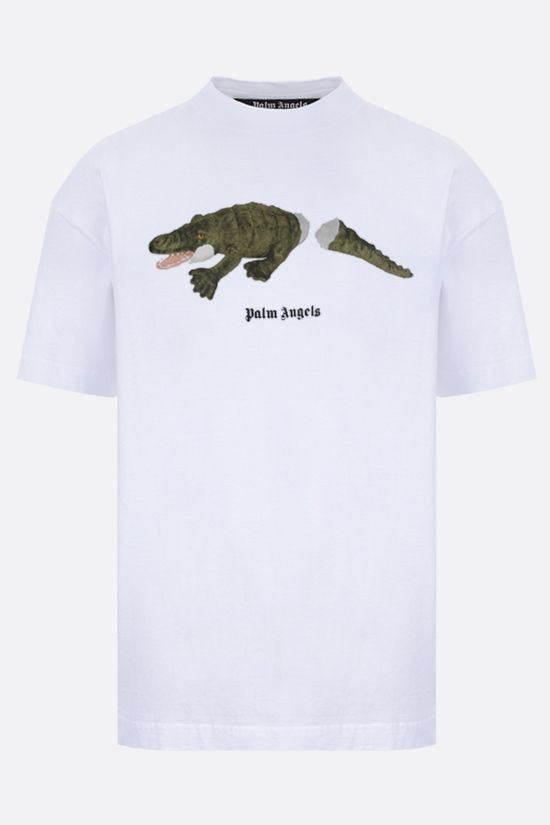 PALM ANGELS: Croco cotton t-shirt Color Multicolor_1