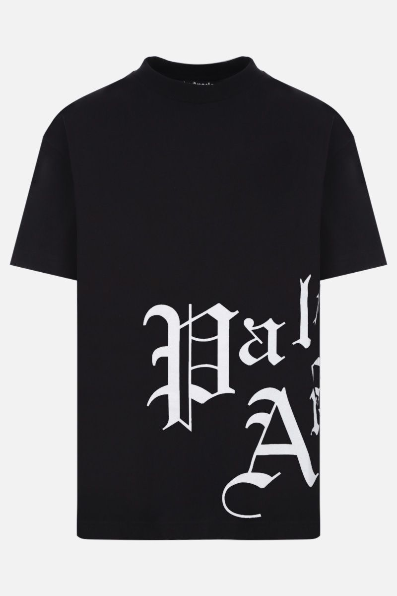 PALM ANGELS: t-shirt Gothic in cotone Colore Bianco_1