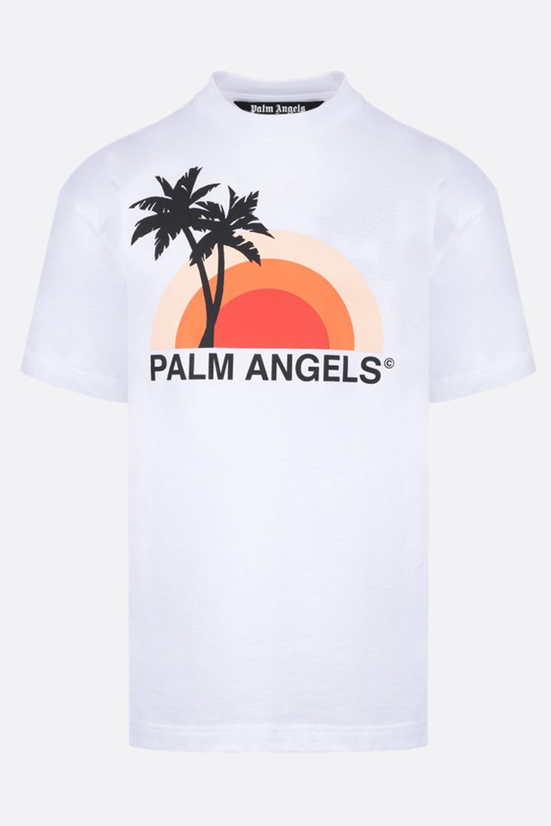 PALM ANGELS: Sunset cotton t-shirt Color Multicolor_1