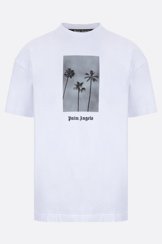 PALM ANGELS: Palms Boulevard cotton t-shirt Color White_1