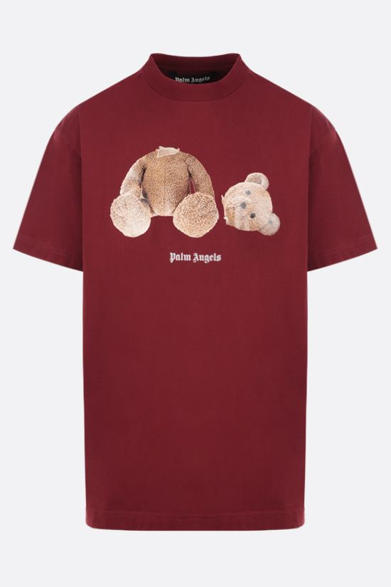 PALM ANGELS: t-shirt Bear in cotone Colore Marrone_1